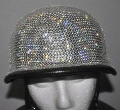 Bling German Helmet Full Covered  Swarovski Crystals!!  I want one!!!