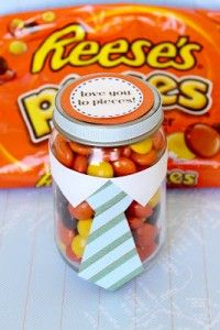 Tie jar.  I love you to pieces printable.