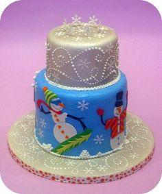 snowman cake, winter cakes, cake wrecks, holiday cakes, christmas cakes, swirl, winter wonderland, christma cake, dahlia
