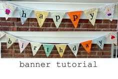 bias tape, banner tutori, flags, happy birthdays, birthday banners, birthday parties, parti theme, baby birthday, birthday celebrations