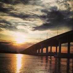 Pascagoula MS Bridge Sunset
