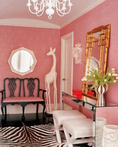 A Pink Jungle Entryway
