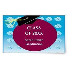 $5.60 per sheet of 4  #stickers #graduation #zazzle #elenaindolfi  #classof #classof2012 Graduation Rectangle Sticker by elenaind