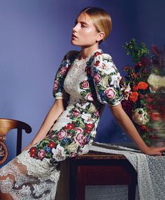 tapestries, floral patterns, flower dresses, fashion editorials, october