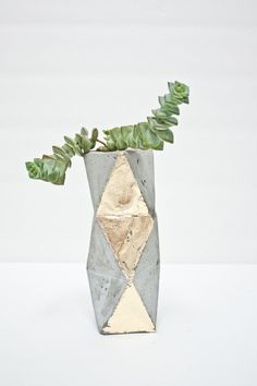 Geometric Concrete Succulent Cacti Planter by ConcreteGeometric