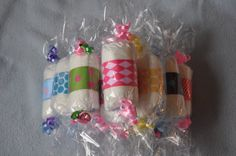Diaper Candy Rolls Baby Shower Decorations