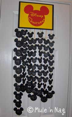 Disney Vacation Countdown (alternative to paper chain) I love this will have to do for our next trip.
