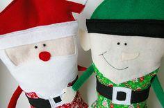 Christmas rice-bags #DIY #Christmas #Crafts #Easy