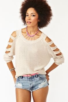 Sliced Sleeve Knit $68