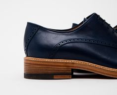 Leather Blue Shoes
