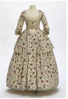 Caraco and petticoat  1770-1780