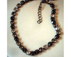 Chokers can be made to whatever your wardrobe needs may be! 8mm  stones I can make all sizes...$100