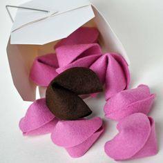 valentine treats, felt fortun, valentine day crafts, gift, idea