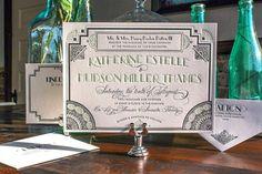 Great Gatsby Wedding Invitations from http://ohsobeautifulpaper.com/