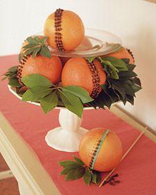 How to make an Orange and Clove Pomander for #Christmas.