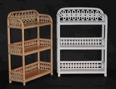 3-Tier Wall Shelf via @wickerparadise #bathroom #wicker #shelf #lace www.wickerparadise.com