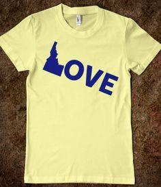 Idaho Love tee--need this now