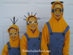 minions, holiday, diy ideas, diy costumes, halloween costumes, costume ideas, minion costum, costume halloween, kid