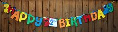 Sesame Street Banner for Birthday Party. $25.00, via Etsy.
