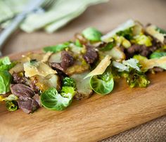 Winter Salads That Will Keep You Full: Brussels Sprouts and Sunchoke Salad #SelfMagazine