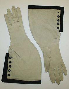 Hermes suede gloves ca. 1948
