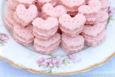 Pink Piccadilly Pastries: Sparkling Strawberry Cream Wafers