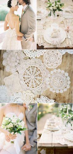 Pretty lacy doilies.