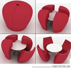 idea, space saving furniture, seating arrangements, tea tabl, chairs, little kitchen, small spaces, dining tables, table designs