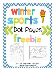 Winter Sports: Dot Pages  - pinned by @PediaStaff – Please Visit ht.ly/63sNtfor all our pediatric therapy pi