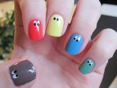 More googly eye nails