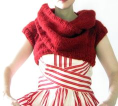 Knitted Wrap Top. Shrug. Bolero. Inspiration.