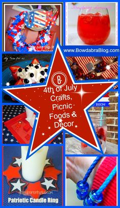 8 Fourth of July Crafts, Picnic Foods and Decor