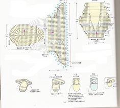 esquemas de zapatitos para bebes gratis   el ganchillo engancha...: Grafico para tejer las botitas para bebé