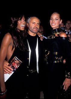 Naomi Campbell, Gianni Versace & Christy Turlington, early 90s
