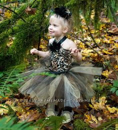 Homemade Easy and Darling Pebbles Costume... Coolest Halloween Costume Contest