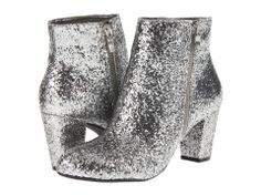 Silver sequin booties from 6PM.com