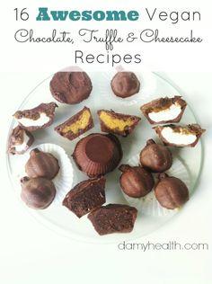 16 Awesome #RAW #Vegan Chocolate, Truffle & Cheesecake Recipes