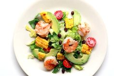 Fiesta Grilled Shrimp and Corn Salad with Avocadoes