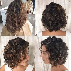 short layered curly