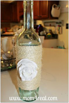 Wine Bottle Olive Oil Dispenser...Great idea but mine will be WAY cuter! How bought some burlap on it or ribbon :)