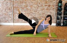 Tone your lower half with this 10-Minute #Pilates Thigh #Workout! | via @SparkPeople #TeamSkinnyJeans #fitness