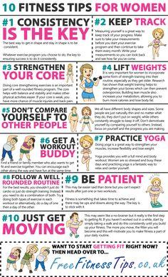 10 Fitness Tips For Women Infographic