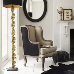I own that lamp and I love it!  Seating - Spitalfield Armchair - Graham and Green - wing back, wingback, chair
