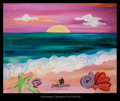 Funky Sea Shells Painting - Jackie Schon, The Paint Bar
