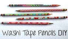 punk projects: Washi Tape Covered Pencils DIY