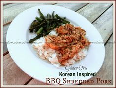 A Busy Mom's Slow Cooker Adventures: Korean Inspired BBQ Shredded Pork - Gluten-Free