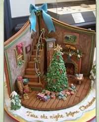 Inside a gingerbread house