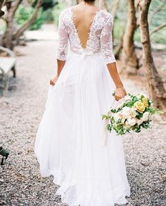 Hey, I found this really awesome Etsy listing at https://www.etsy.com/listing/171633333/a-line-v-neck-long-sleeves-lace-wedding