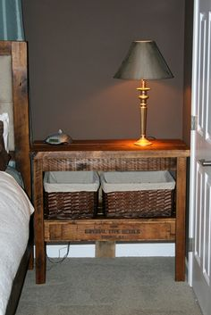 Recycled Pallet Night Stand