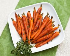 Roasted Baby Carrots With Honey & Orange